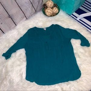 Merona by Target teal green vneck tunic size XXL